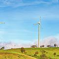 Horizontal Axis Wind Turbines. Panorama by MotHaiBaPhoto Prints