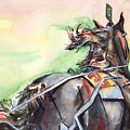 Horse Art In Watercolor by Maria's Watercolor