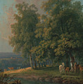 Horses And Cattle By A River by George Barret