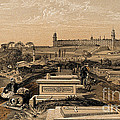 Hospital And Cemetery At Scutari, C.1854 by Wellcome Images