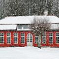 Hovdala Castle Orangery In Winter by Antony McAulay