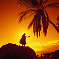 Hula At Sunset by Ron Dahlquist - Printscapes