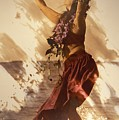 Hula On The Beach by Himani - Printscapes