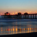 Huntington Beach Pier At Sunset by Pierre Leclerc Photography