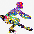Ice Skater-colorful by Erzebet S