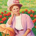 Ida In The Garden by Amy Vangsgard