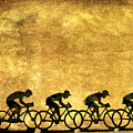 Illustration Of Cyclists by Bernard Jaubert