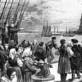 Immigrants On Ship, 1887 by Granger