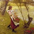 In The Orchard Haylands Graffham Henry Herbert La Thangue by Eloisa Mannion
