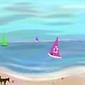 In The Pink - Sailing In Tropical Waters by Barefoot Bodeez Art