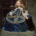 Infanta Margarita Teresa In A Blue Dress by Diego Velazquez