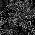 Irvine California Usa Dark Map by Jurq Studio