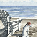 Jack Russel Terrier At The Beach by David Rogers