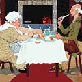 Vintage Jack Sprat Mother Goose Nursery Rhyme by Marian Cates