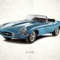 Jaguar E-Type by Mark Rogan