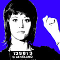 Jane Fonda Mug Shot - Blue by Gary Hogben