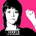 Jane Fonda Mug Shot - Pink by Gary Hogben