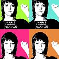 Jane Fonda Mug Shot X4 by Gary Hogben