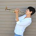 Jazz Trumpet Player. by Oscar Williams