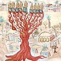 Jerusalem -watercolor On Parchment by Sandrine Kespi