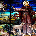 Jesus And Lambs by Ed Weidman