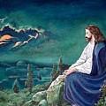 Jesus Praying by Terri Kilpatrick
