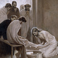 Jesus Washing The Feet Of His Disciples by Albert Edelfelt