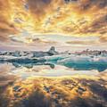 Jokulsarlon Sunset by James Billings