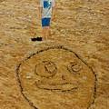 Jorden Draw Self Portrait In The Sand   by Eli Gross
