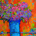 Joyful Perfection - Modern Impressionist Art - Palette Knife Work by Patricia Awapara