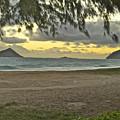 Kaohikapu Island Sunrise by Michael Peychich