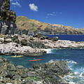 Kayaking Along Coastline by Ron Dahlquist - Printscapes
