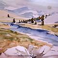 Kennedy Meadows Half In Winter by Amy Bernays