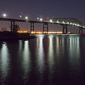 Key Bridge At Night by Brian Wallace