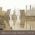 Kilbourn Avenue Bridge, Milwaukee, Wisconsin, 1915-1920, Vintage by A Gurmankin