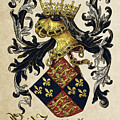 King Of England Coat Of Arms - Livro Do Armeiro-mor by Serge Averbukh