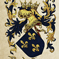 King Of France Coat Of Arms - Livro Do Armeiro-mor  by Serge Averbukh