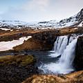 Kirkjufellsfoss Waterfalls Iceland by Michalakis Ppalis