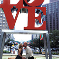 Kiss Under Love Sculpture by Carl Purcell