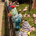 Knit Fence Protectors by Diane Schuler
