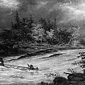 Krieghoff: Canoe On Rapids by Granger