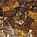 Krumau - Crescent Of Houses by Egon Schiele