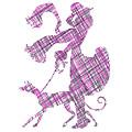Lady Dog Walker Threads Transparent Background by Barbara St Jean