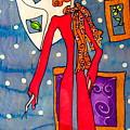 Lady In Red by Yvonne Feavearyear