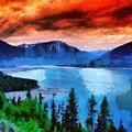 Lake by Marjan Mencin