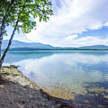 Lake Mcdonald In Glacier National Park Montanaa by Alex Grichenko
