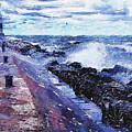 Lake Michigan Waves by Phil Perkins