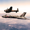 Lancaster And Vulcan by J Biggadike
