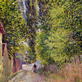 Landscape Near Louveciennes by Alfred Sisley