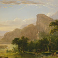 Landscape Scene From Thanatopsis by Asher Brown Durand
